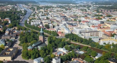 croppedimage550300 city of turku from the air